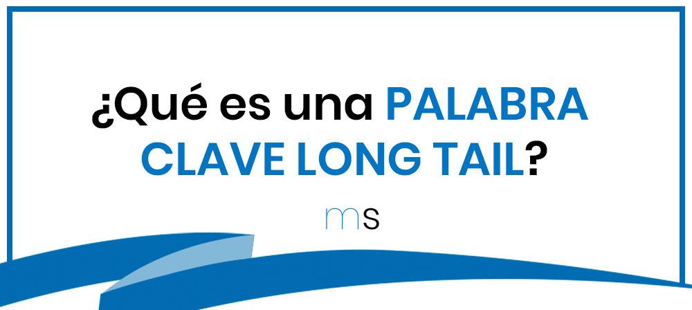 ¿Qué es una PALABRA CLAVE LONG TAIL?